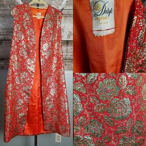 Vintage Daisy's Original Orange & Gold Rose Jacket
